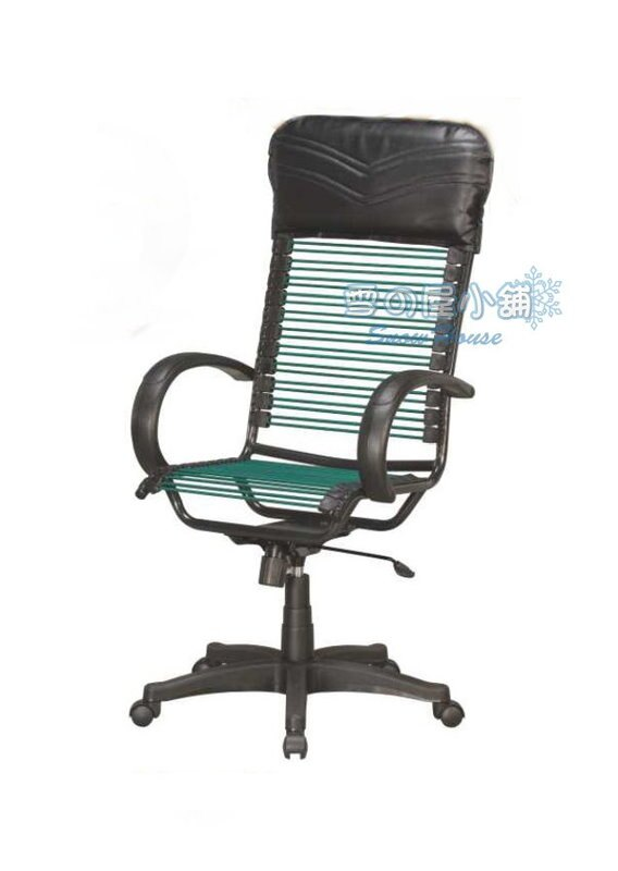 ╭☆雪之屋居家生活館☆╯P297-08/R287-02 氣壓有扶手傾仰綠圓條大型健康椅/辦公椅/電腦椅
