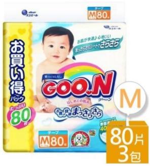 【GOO.N】大王 阿福狗M號:80枚x3包