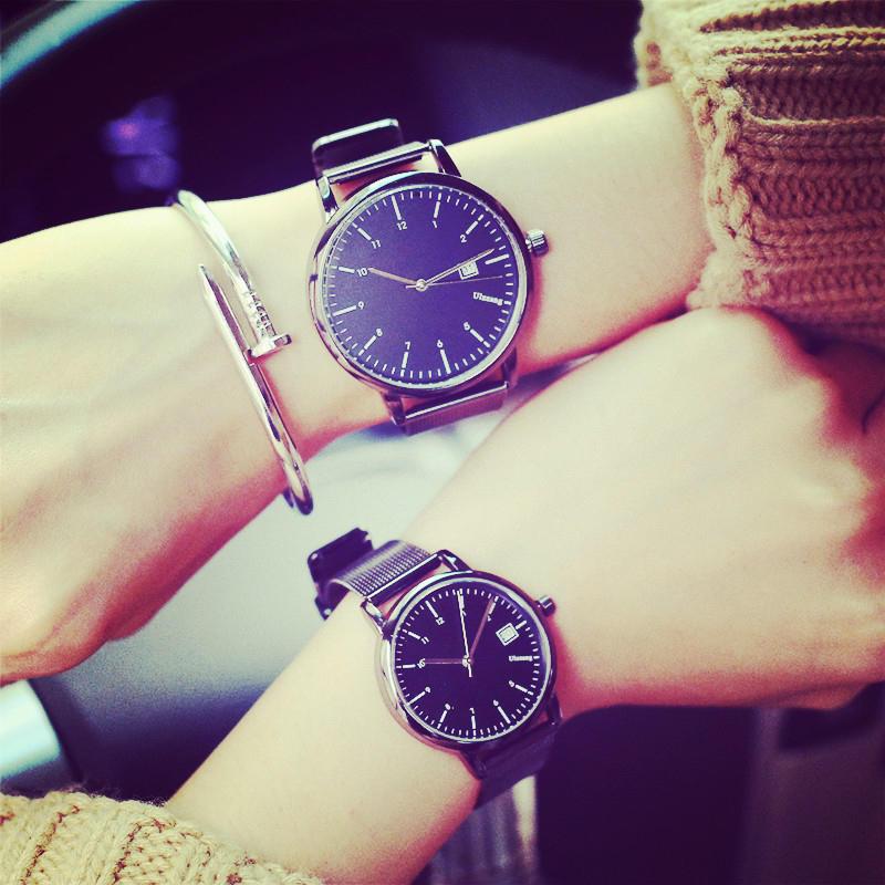 【NaYi】現貨 日曆錶 錶 情侶對錶 閨蜜錶 手錶 錶 鋼錶 學生錶 簡約錶 考試 大學生三眼錶 禮物 生日禮物 送禮 飾品 配件