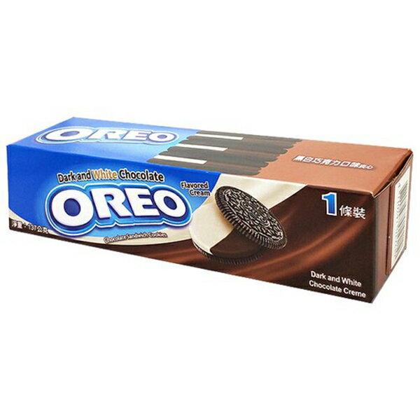 OREO奧利奧黑白巧克力夾心餅乾137g(12入)/箱【康鄰超市】