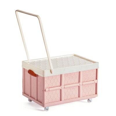 快速出貨 折叠收納箱 裝書書箱滑輪省空間收納箱帶輪子有拉桿神器大號可折疊可行動箱子