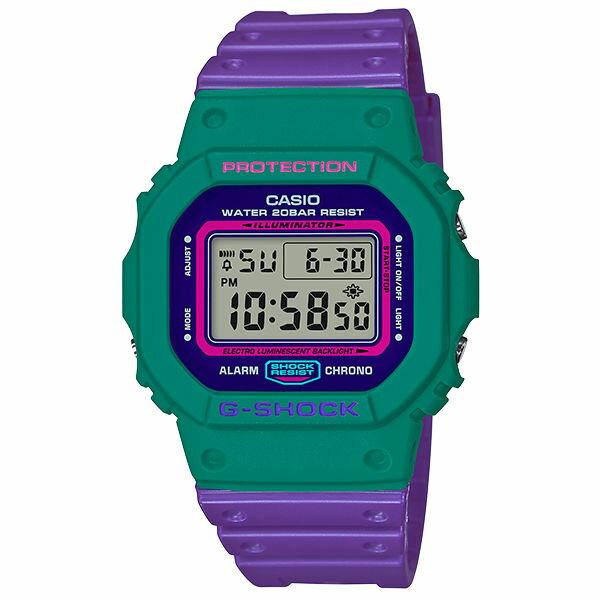 CASIO G-SHOCK DW-5600TB-6 多彩數位撞色時尚腕錶/48.9*42.8mm