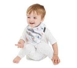 紐西蘭 MUM 2 MUM 雙面竹纖維棉機能口水巾圍兜 飛機/藍條紋 ZMU363345 好娃娃