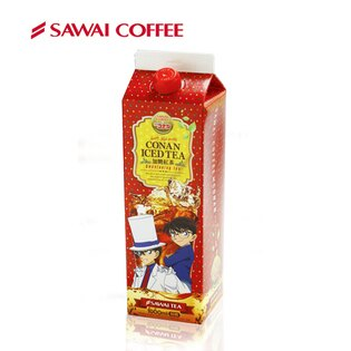 澤井咖啡 SAWAI COFFEE:【澤井咖啡】冰咖啡名偵探柯南系列-有糖紅茶100ML★211前下單完款,保証年前到貨