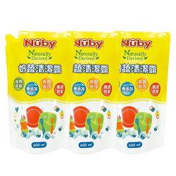 【麗嬰房】美國 Nuby 奶蔬清潔露補充包 600ml (3入)