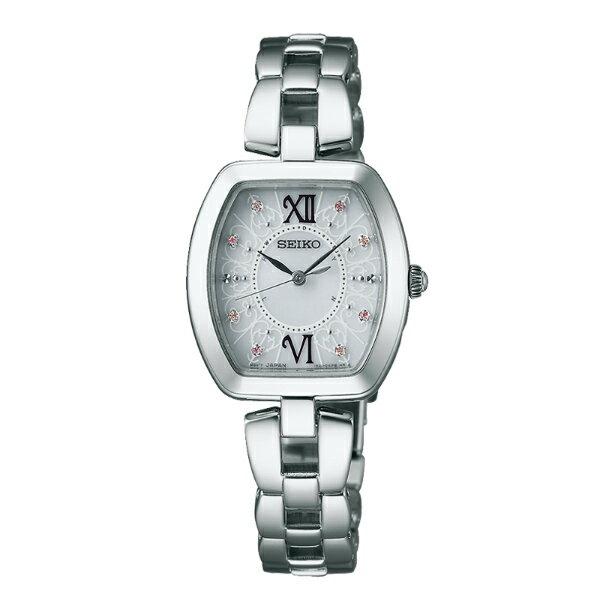 Seiko Vivace 1B21-0AH0S(SWFH035J)羅馬愛戀太陽能電波腕錶/銀面26*25mm