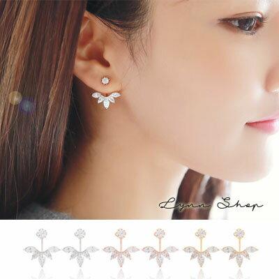 韓系飾品 韓劇美女的誕生造型鋯石耳釘耳環耳夾韓版耳飾 3色(一對)【OE-0411】LYNNSHOP