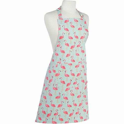 《NOW》平口單袋圍裙(紅鶴)