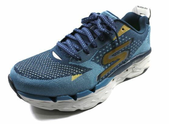 [陽光樂活]28.5CMSKECHERS(男)跑步系列GORUNULTRAR2避震慢跑鞋路跑鞋訓練鞋-55050BLNV藍金