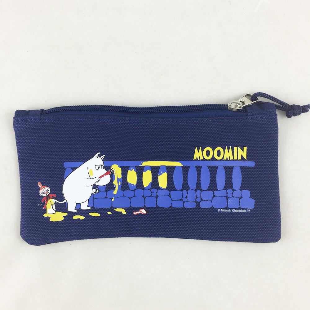 嚕嚕米正版授權-筆袋(藍)