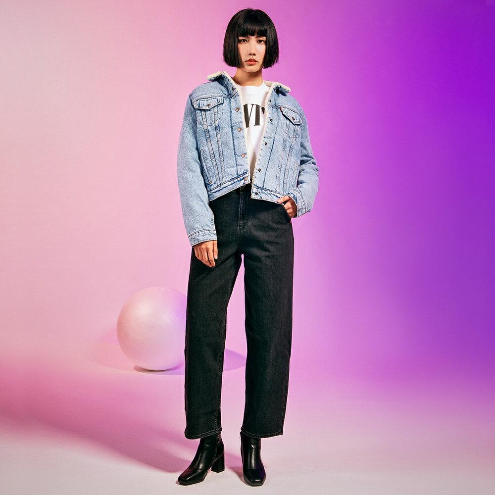 Levis 女款 Balloon 高腰合身氣球版丹寧牛仔寬褲  /  LEJ energy 3D褲  /  Orta歐洲丹寧  /  及踝款 4