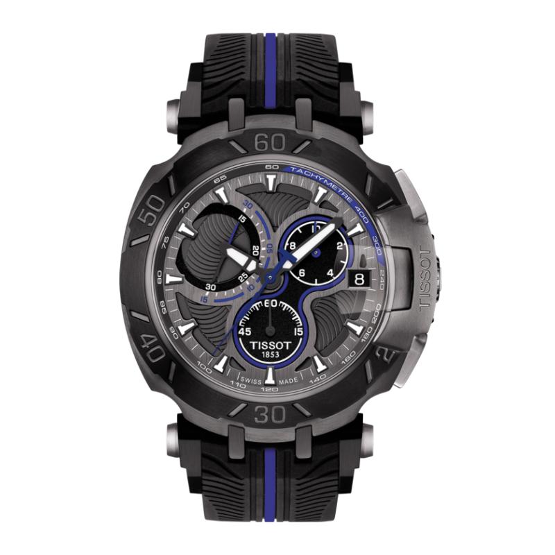 TISSOT 天梭 T0924173706100 T-RACE MOTOGP 限量版賽車錶 黑 藍 45mm - 限時優惠好康折扣
