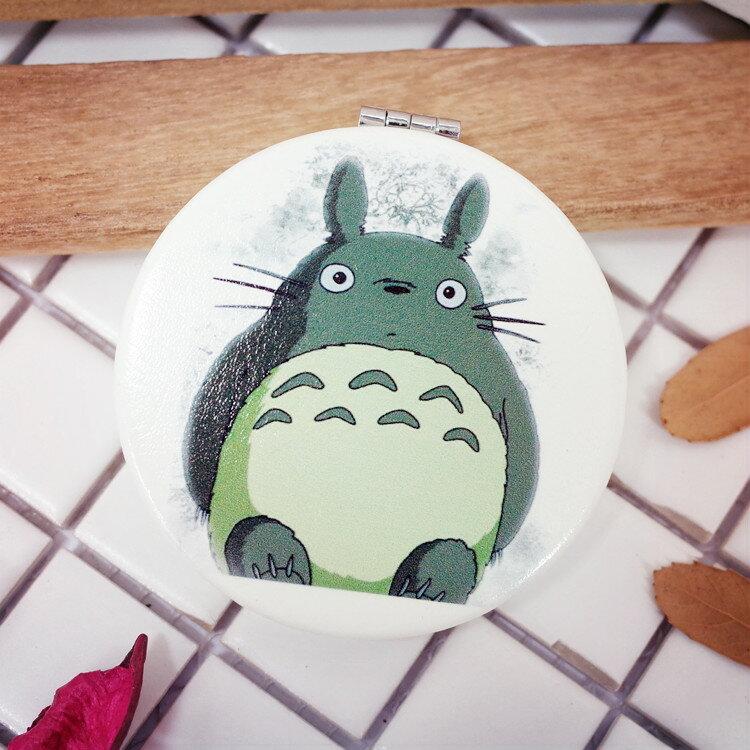 PGS7 宮崎駿系列商品 - 龍貓 豆豆龍 圓鏡 鏡子 化妝鏡 隨身鏡 吉卜力【 SFE7086】