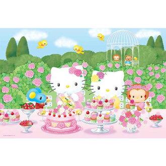 Hello Kitty玫瑰園派對拼圖1000片