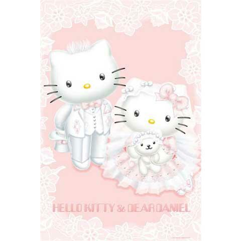 Hello Kitty夢幻婚禮夜光拼圖1000片