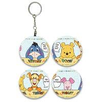 小熊維尼周邊商品推薦Winnie The Pooh哈囉你好球形拼圖鑰匙圈24片