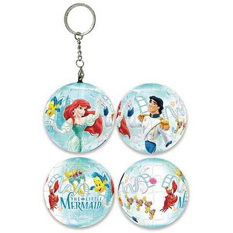 Disney Princess艾莉兒球形拼圖鑰匙圈24片