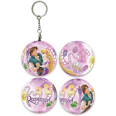 Disney Princess樂佩球形拼圖鑰匙圈24片