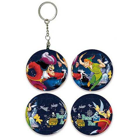 Peter Pan小飛俠彼得潘球形拼圖鑰匙圈24片 - 限時優惠好康折扣
