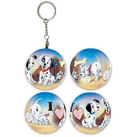 101 Dalmatians 101忠狗球形拼圖鑰匙圈24片