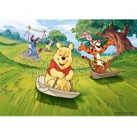 小熊維尼周邊商品推薦Winnie The Pooh開心滑草拼圖520片
