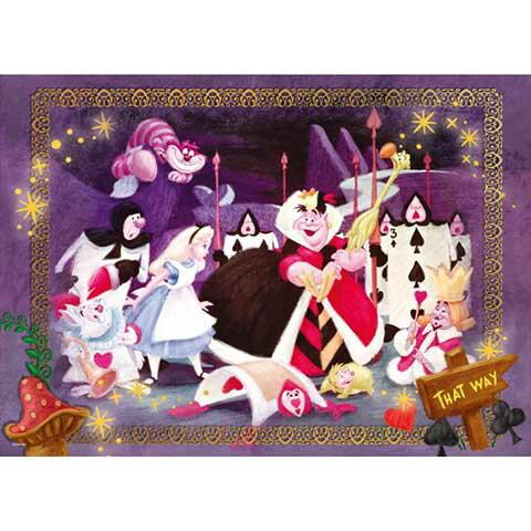Alice In Wonderland女王的槌球場拼圖520片