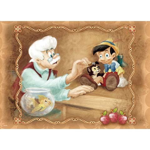 Pinocchio小木偶的誕生拼圖520片