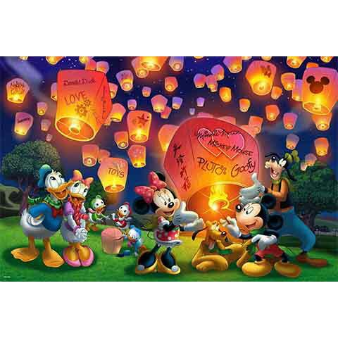 Mickey Mouse&Friends天燈夜光拼圖1000片
