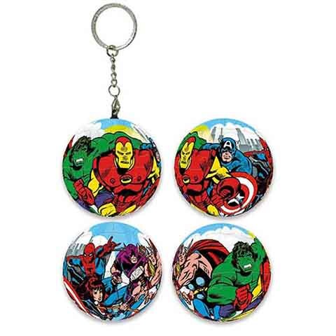 Marvel Comics經典漫畫球形拼圖鑰匙圈24片 - 限時優惠好康折扣