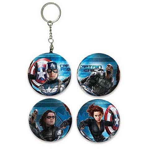 Captain America Movie 2 美國隊長2:酷寒戰士球形拼圖鑰匙圈24片