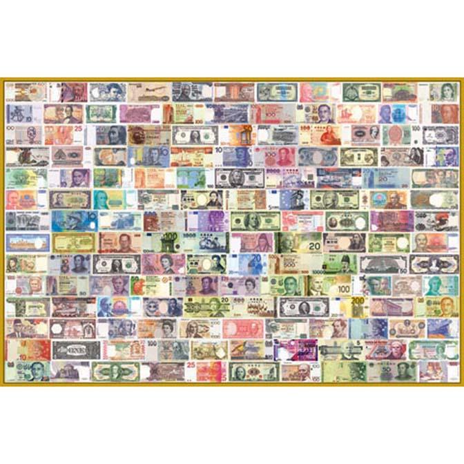 1000片拼圖 收集世界-世界紙鈔