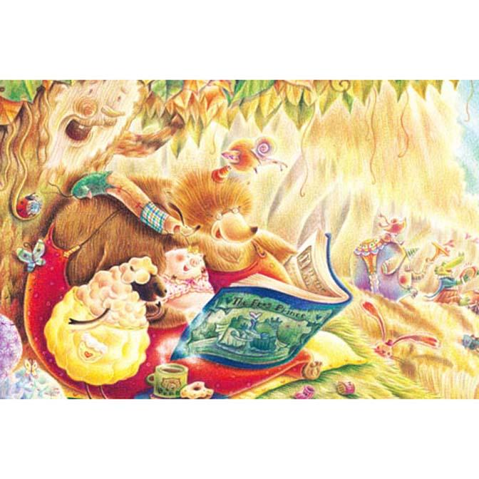 1000片拼圖 Iris色鉛筆系列:童話閱讀森林~書中黃金屋
