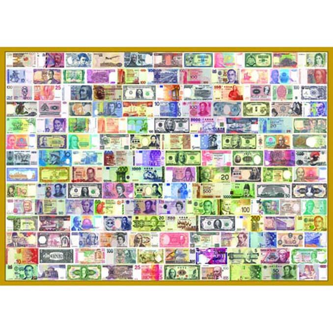 520片拼圖 收集世界-世界紙鈔