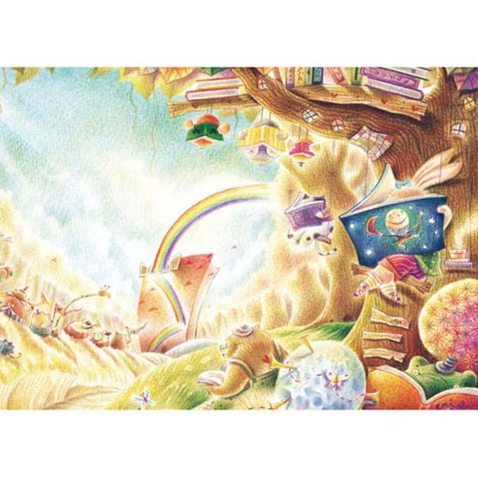520片拼圖 Iris色鉛筆系列:閱讀森林-彩虹樹屋