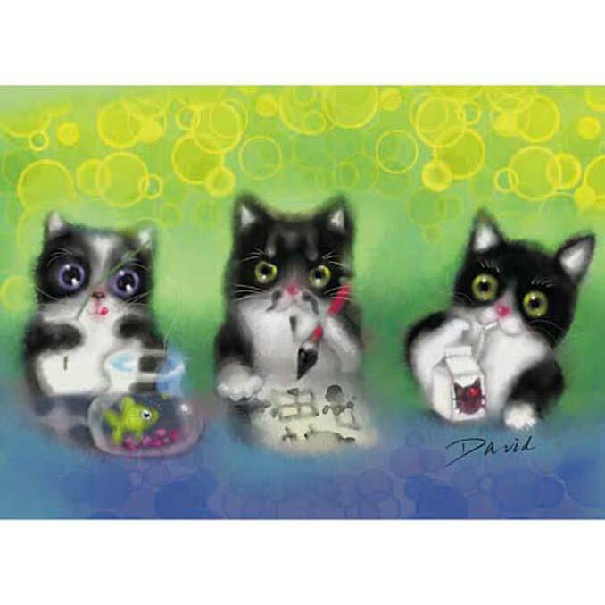 520片拼圖 大衛畫貓系列-賓士貓 狂想曲