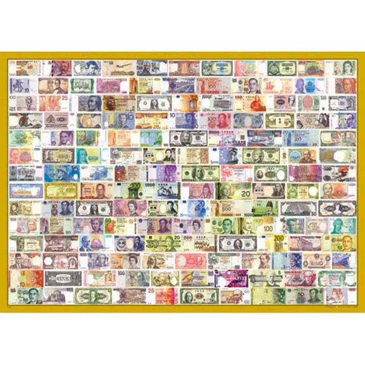 1000片拼圖 收集世界~世界紙鈔