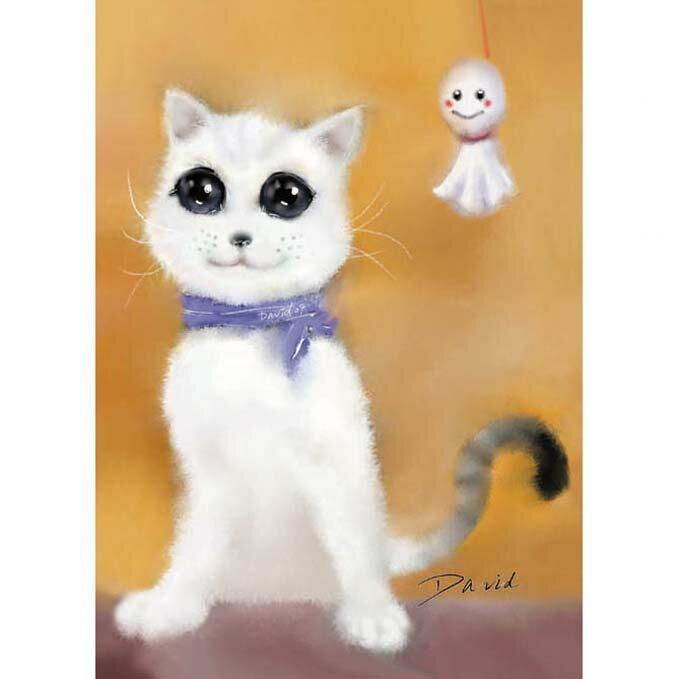 108片拼圖 大衛畫貓系列-晴天娃娃