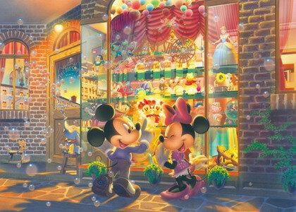 2000片 米奇米妮 黃昏的玩具店