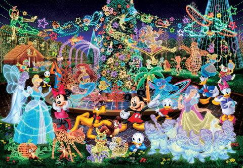 500片 發光的迪士尼人物