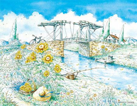 500片 溪邊小橋