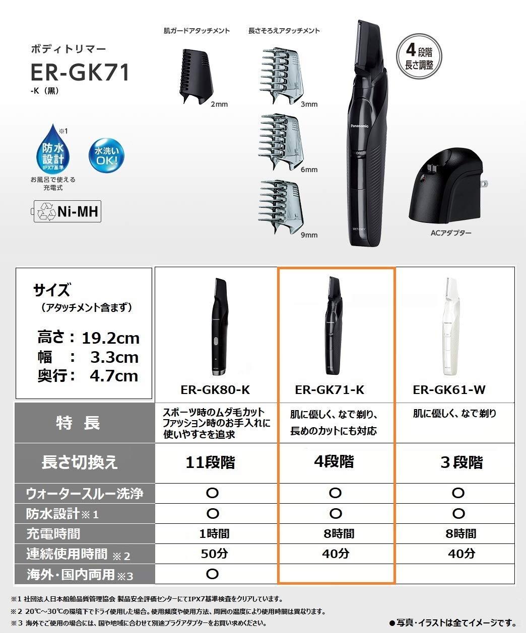 日本公司貨 國際牌 PANASONIC【ER-GK71】除毛刀 毛髮修剪 體毛 水洗 美體修容刀 1