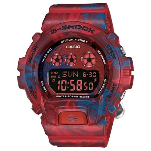 Ladies' Casio G-Shock S Series Red Floral Band Watch 0