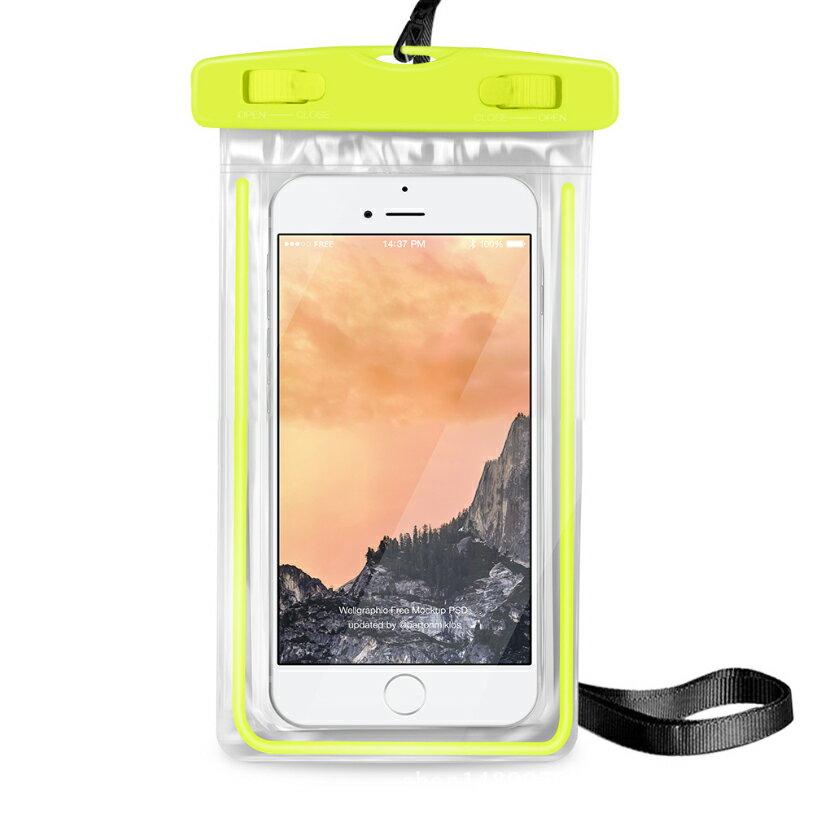 PS Mall 夜光款手機 螢光防水袋 觸摸透明PVC潛水套【J312】 6