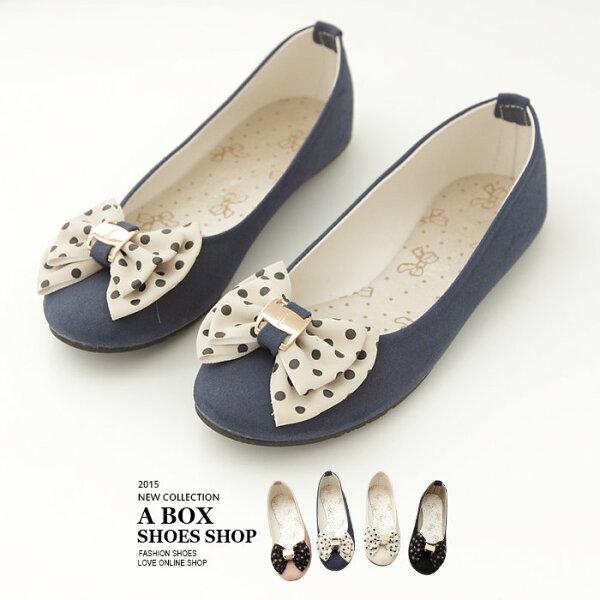 【AW705】韓系優雅 點點蝴蝶結飾品 素面平底包鞋 台灣製 4色現貨