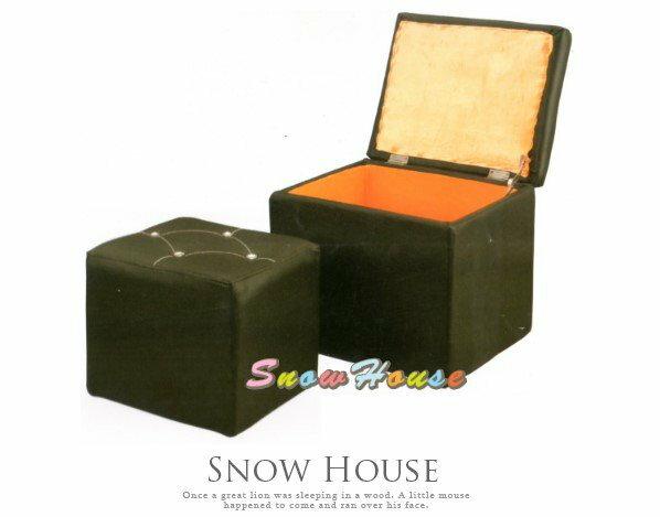 ╭☆雪之屋居家生活館☆╯@特價優惠@AA503-02特赦黑收納箱收納椅收納櫃單人沙發穿鞋椅電腦椅矮凳