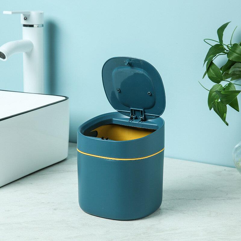 北歐風桌面垃圾桶 桌面按壓垃圾桶 按壓式垃圾桶 垃圾桶 迷你垃圾桶 辦公室垃圾桶 彈蓋垃圾桶【RS1226】