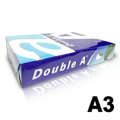 【文具通】Double A 達伯埃 影印紙 噴墨 雷射 影印 A3 80gsm 白色 500張/包 含稅價 P1410300