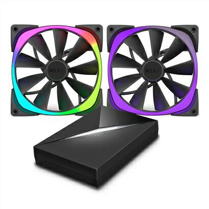 NZXT恩傑AerRGBSeries風扇-140mm(兩顆)&Hue+PC散熱風扇電腦散熱風扇電腦風扇【迪特軍】