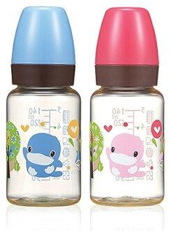 KUKU 酷咕鴨 歐風經典PES標準奶瓶140ml (藍/粉)
