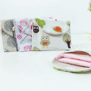 美麗大街【BF573E13】韓版棉麻衛生棉收納袋可愛卡通衛生巾姨媽巾收納袋衛生巾包